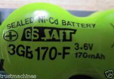 1Lot=10 Qty |GS SAFT Saft 3GB170-F | 3GB170F | 3GB17O-F BATTERY 3.6V 200MAH NICD