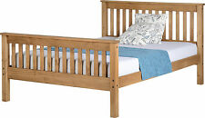 MONACO 3FT Single OR 4ft 6 Double  5ft King DISTRESSED WAXED PINE Bed Frame