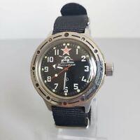 Wrist Watch Komandirskie Amfibia Military Tank Soviet Vostok