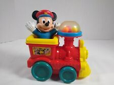 Vintage Disney Mickey Mouse Poppin' Sounds Train Pull Toy