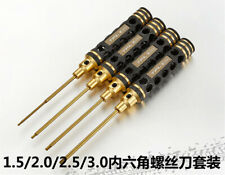 Destornillador Hexagonal Oro 4PCS Kit de Herramientas Set 1.5/2.0/2.5/3.0mm para los modelos de RC