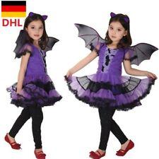 Kinder Mädchen Hexekostüm Vampir Horror Cosplay für Halloween Karneval Party DE