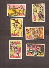 A & BC GUM CARDS BATMAN No's 11A, 12A, 13A, 14A, 15A, 16A. 1966 ISSUE