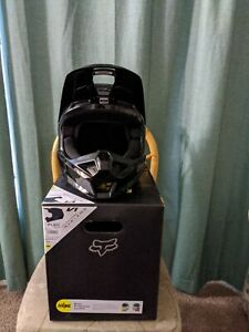 Fox V1 Plaic Helmet Black Size Large 59-60 CM DOT ECE MIPS