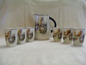 CAPRI - ROYAL SEALY PITCHER AND 6 WINE CUPS