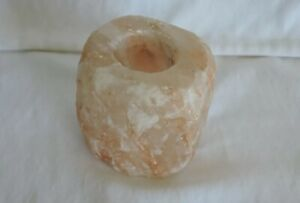 Witches Himalayan Salt Crystal Rock Tea/Votive Candle Holder Alter Offering