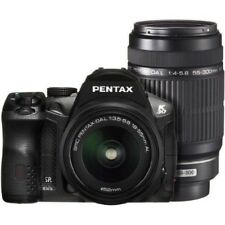 USED Pentax K-30 with DAL 18-55mm + DAL 55-300mm Black Excellent FREESHIPPING