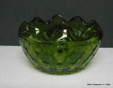 Vintage Ruffle Edge Dark Green Serving Bowl