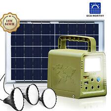 84Wh Power Station Solar Generator Lighting Kit Solar Light For Home Camping
