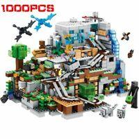 1000Pcs + 28 Animals Mining Village Mountain Cave World Building Blocks Bricks