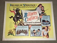 BANDITS OF CORSICA (1953) RICHARD GREEN SWORD-FIGHTING HS - NEVER FOLDED - XF!