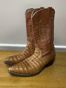 Men Handmade Geniune Mexican Relampago Boots Alligator Cuero Leather Vaqueros Y