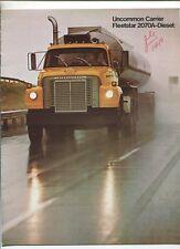International Harvester  Fleetstar 2070A-Diesel Dump,Semi Sales Brochure  MBX85