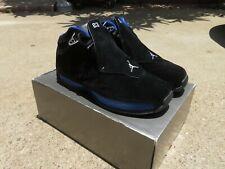Air Jordan 18 OG Size 10 Men Black Blue Suede FOR RESTORATION 305869-041 2003