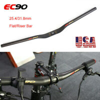 EC90 Carbon Bike Handlebar 25.4/31.8mm Flat/Riser Bar 660-760mm Length MTB Bike