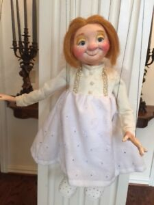 """DISPLAY Marionette Art Collectible """"LITTLE ANGEL"""", HAND MADE, OOAK"""