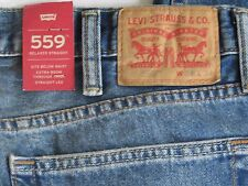 NWT Levis Men 559 Relaxed Straight Jeans 38W x 34L Zip-Fly
