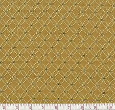 HGTV Home On The Web Saffron Yellow Gold Floral Woven Drapery Fabric BTY