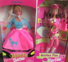 "1996-1997  BARBIE DOLLS   LOT of 2   ""FUN FIFTIES AND SIXTIES""   MINT NRFB"
