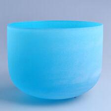 "8"" G Throat Blue Wholesale Chakra Crystal Quartz Singing Bowl Heal Stone"