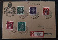1945 Perleberg Germany Cover Domestic Used  Postwar provisional Overprint Star