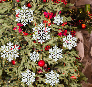 30x Schneeflocken Snowflakes Weihnachtsbaumdeko Christbaumschmuck Aufhängen