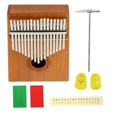 17-Key Kalimba Thumb Piano Toy Hawaiian Wooden Mahogany Finger Instrument Kit