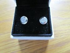 Pandora Silver Signature Earrings  290559CZ Comes With Pandora Suede Pouch