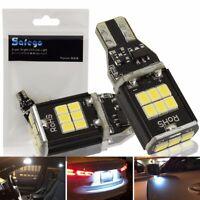 Safego 2x T15 W16W 921 912 906 LED Auto Außen Glühbirne Xenon Weiß 6000K 12V