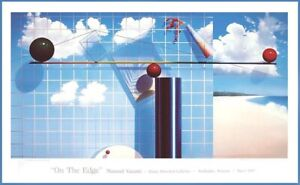 YASAMI On the edge exhibition Artist poster 1987 Elaine Horwitch GALLERY