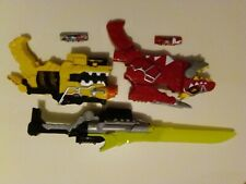 Power rangers Dino charge lot gun blaster sword saber epee morpher energem t rex