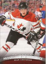 SEAN COUTURIER 2011-12 Upper Deck Canvas Program of Excellence Rookie Canada