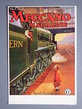 R&L Postcard: Meccano Magazine Cover 1925 Steam Railway, Modern/VPI