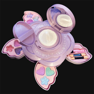 Girls Makeup Cosmetic 2 Layers Kit Fold Out with Mirror and 14 Pcs Non Toxic Set
