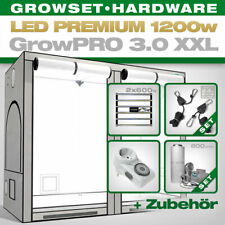 Growbox Komplettset LED GrowPRO XXL, 2x Lumatek ZEUS 600W PRO 240x120x200cm