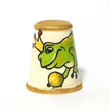 Brass Enamel King Frog Thimble