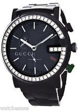 Gucci YA101331 Men's Black Stainless Steel 3ct Diamond Bezel G Watch