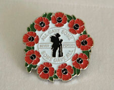 New Red Poppy Lapel Pin Enamel Badges Rifle Soldier Brooch Military 2017 Army UK