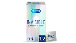 12x Preservativos Durex Invisible Extra Fino Extra Sensitivo Condones Relaciones