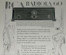 1929 RCA advertisement, RCA Radiola 60 radio 106 speaker, art deco dancers