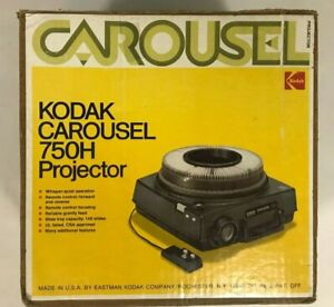 Vintage Kodak Carousel 750H Slide Projector Original Box & Remote