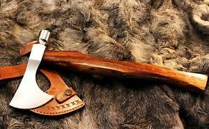 Custom Hand made 5160 steel Viking Bearded Hammer Hawk Axe Tomahawk for camping