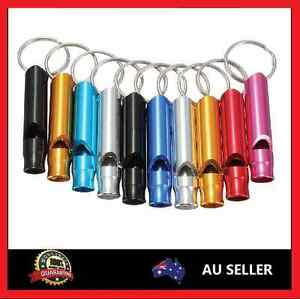 1 or2 or 5x Aluminium Mini Whistle Emergency Whistle Keyring  Camping Survival