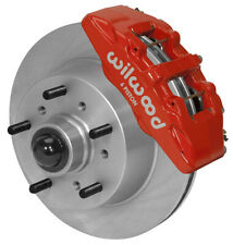 "WILWOOD DISC BRAKE KIT,FRONT,68-72 FORD F-100 TRUCK,11.75"" ROTORS,RED CALIPERS"