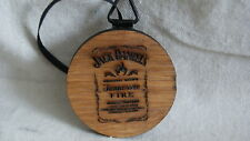 Jack Daniels SHOT GLASS COASTER CHRISTMAS ORNAMENT TENNESSEE FIRE Whiskey Barrel