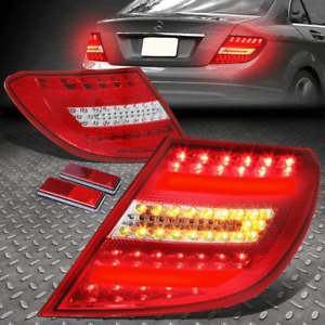 [LED TUBE BAR]FOR 08-11 MERCEDES BENZ C-CLASS W204 TAIL LIGHT BRAKE LAMPS RED