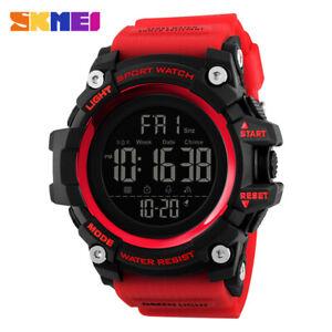 SKMEI Mens Multi-function Calendar Watches Fashion Digital Wristwatch 1384 RED