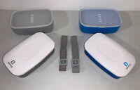 2 Bentgo All-in-One Stackable Lunch Bento Box Snack Blue And Grey Sets
