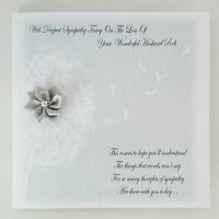 Personalised Bereavement Sympathy Card Condolence On the loss of your HUSBAND