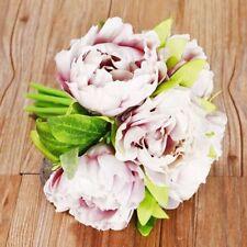 Heads Bridal Bridesmaid Silk Flowers Peony Flower 1 Bouquet Home Wedding Decor